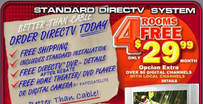 Get a FREE DIRECTV 4 Room System